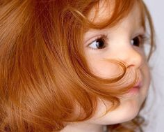I love the little redheaded girls with the clear, pure hair color!  It reminds me of when I was little - if this is red, my hair was pink.