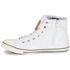 Mustang GALLEGO Blanc - Livraison Gratuite avec Spartoo.com ! - Chaussures Basket montante Femme 49,95 €