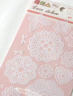 Die Cut Lace Stickers