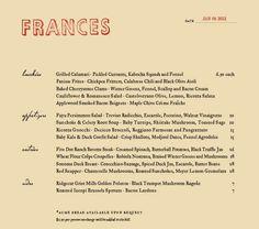 1000 images about menu design on pinterest menu design for Menu frances tipico