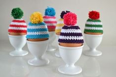 eierwarmers haken (de muts) — bij boef+mop - Lilly is Love Crochet Egg Cozy, Easter Crochet, Crochet Beanie, Crochet Baby, Knit Crochet, Fun Crafts To Do, Big Knits, Crochet Gifts, Crochet Animals
