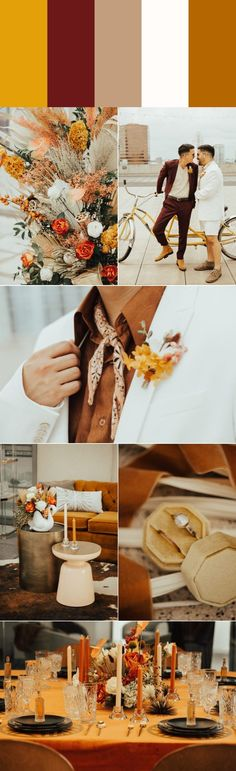 Five Stylish Fall Wedding Color Palettes Fall Wedding Colors, Yellow Wedding, Summer Wedding, Wedding Trends, Wedding Blog, Wedding Decor, Wedding Ideas, Fall Bridesmaid Dresses, Pallets
