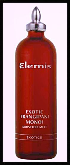 Elemis Frangipani Monoi oil - this stuff is unbelievable! Use it in the bath and in your hair at bed time!