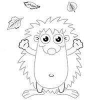 Kiddoland: Uzupełnianka Jeżyk w liściach