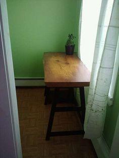handmade desk of live edged wood