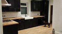 New IKEA Laxarby kitchen with mini metro tiles