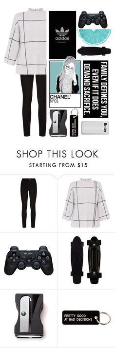 """""""It does not do to Dwell on Dreams and forget to live"""" by xxstingerrayxx ❤ liked on Polyvore featuring Paige Denim, L.K.Bennett, Sony, Monkey Business, Various Projects and RandomFridays"""