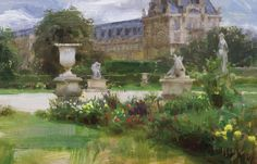 "Afternoon in the Tuileries by Daniel Keys - 8"" x 12"" 