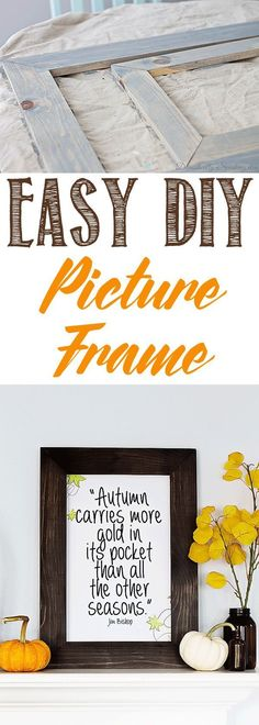 Easy DIY Picture Frame - learn how to make your own with only 1 board and a little time