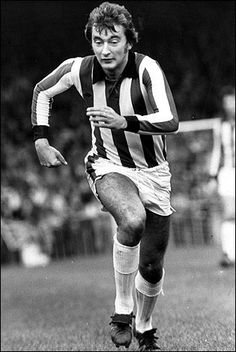 Alan Hudson of Stoke City in Stoke City Fc, Premier League Soccer, Soccer Pictures, Retro Football, Stoke On Trent, Famous Faces, Football Players, Legends, The Past