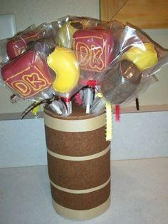 Donkey Kong cakepops