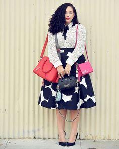 Tanesha @girlwithcurves' love for bags  #baglady #CurvesAreBella #Bellacurves #plussizefashion