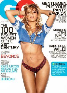 Beyoncé Covers GQ in a Teeny-Tiny T-Shirt and Bikini Bottoms- gorgeous