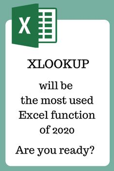 XLOOKUP is the newest addition to the lookup formulas in Excel. If VLOOKUP is a Vertical lookup function and HLOOKUP is a Horizontal lookup function, XLOOKUP is capable of replacing them both by performing the lookup both horizontally and vertically. Computer Help, Computer Programming, Computer Tips, Microsoft Excel Formulas, Excel Macros, Excel For Beginners, Education Logo, Education Quotes, Data Science