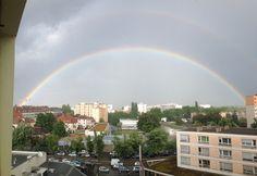 Double arc-en-ciel #rainbow #home