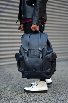 Gotham backpack in glovetanned leather - Men bags - Fashion Bags, Fashion Backpack, Mens Fashion, Backpack Bags, Leather Backpack, Laptop Backpack, My Bags, Purses And Bags, Men's Backpacks