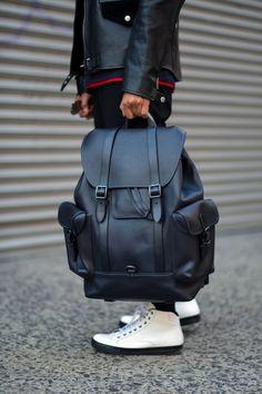 Gotham backpack in glovetanned leather - Men bags - Fashion Bags, Fashion Backpack, Mens Fashion, Backpack Bags, Leather Backpack, Laptop Backpack, Men's Backpacks, Back Bag, Designer Backpacks