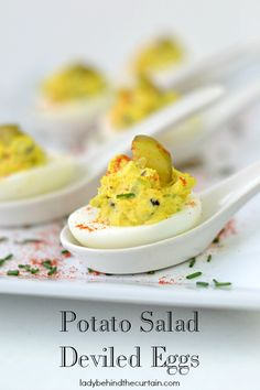 Potato Salad Deviled Eggs