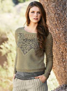 Outstanding Crochet: Peruvian Connection Irish Crochet Pullover.