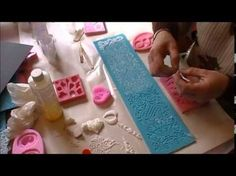 TUTORIAL: How to make perfect edible lace for cakes Polymer Clay Projects, Resin Crafts, Bead Crafts, Biscuit, Edible Lace, Resin Jewelry Making, Jewellery Making, Clay Stamps, How To Make Clay
