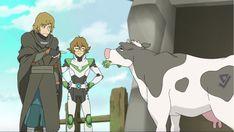 Pidge showing her brother, Matt Holt Kaltenecker the cow from Voltron Legendary Defender