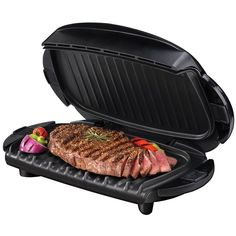 George Foreman GRP4B The Next Grilleration 72 Sq. In Black Removable Plate Grill #GeorgeForeman