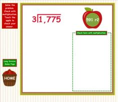 Have apple-themed fun solving long division problems, mental math division, and division word problems in this self-checking Smart Board game.  (Common Core Aligned: 4.OA.2, 4.OA.3, 4.NBT.1, 4.NBT.6) $