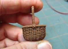 How-To: Weave a Miniature Basket