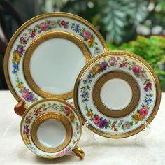 "137 Likes, 3 Comments - Harmony Piring16 (@harmony_piring16) on Instagram: ""Vintage Teacup in Trio by Limoges France #goodafternoon #afternoontea #teawithlove #redroses #tea…"""