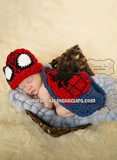 spiderman baby, photo prop, superhero's, ravelry pattern
