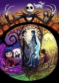 THE nightmare before Christmas, corpse bride, paranorman, coraline