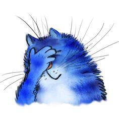 Red Cat, Blue Cats, Baby Cartoon, Cartoon Pics, Cat Signs, Cartoon Sketches, Happy Paintings, Cute Animal Drawings, Cat Stickers