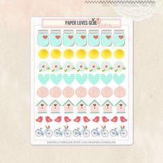 57 Spring Garden Planner Stickers, Calendar Sticker, Planner Accessories, Erin Condren, Filofax, Project Life