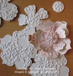 Inked Embossed Flower