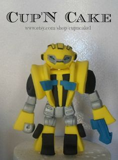 Transformers bumblebee cake topper