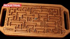 Wooden Game Maze Puzzle with Steel Ball Bearing CNC Project Using Amana ...