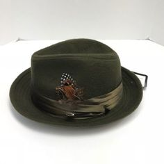 d345e17076f28 Men s Bruno Capelo Olive Fedora Hat Montell Collection Crushable Wool Blend   BrunoCapelo  Fedora