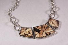 Recycled wine cork mosaic necklace by ZonaShermanDesigns on Etsy, $48.00