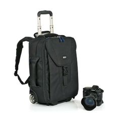 The ThinkTank Airport TakeOff Rolling Camera Bag is a rolling camera bag that converts into a backpack and still meets international carry-on size requirements.