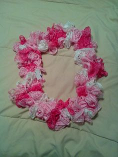 Pinks Infinity Ruffle Scarf by HopkinsHomemadeTrea on Etsy