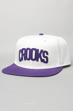 e055a7759c The Crooks Athletic Snapback Cap in White by Crooks and Castles  karmaloop  Crooks And Castles