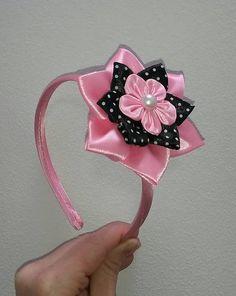 satenovecelenky / Pevná čelenka ružová baby pink