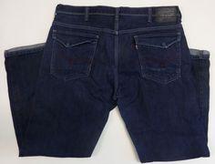 Levi's Jean Denim Pants Man 569 Blue 38x34 Flap Pockets Loose Straight #Levis #LooseStraight