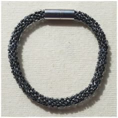 Transparent with Black Middle Bead crochet rope bracelet via CherryLime Accessories. Click on the image to see more!
