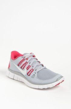 on sale 961ec 0a9ae Nike  Free 5.0  Running Shoe (Women) Grey  Atomic Pink 9 M - ShopStyle  Athletic