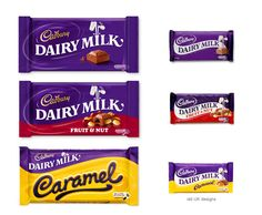 Pearlfisher partnered with Cadbury Dairy Milk on the brand strategy, idenitty and packaging design to reignite the iconic chocolate icon. Dairy Milk Caramel, Cadbury Dairy Milk, Cadbury Chocolate, Mini Rolls, Milk Packaging, Selection Boxes, Swedish Design, Creativity And Innovation, Crates