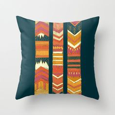 Tribal Chevron Throw Pillow Cover Geometric Red and by JoyfulRoots, $32.00 on Etsy--Same colors scheme as Goldfish Love, this one is more traditional in the southwestern sense, but with a deeper teal and a definite mauve pink.  Very nice!