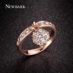 Find More Rings Information about NEWBARK 18K Rose Gold Plated Women Rings With…
