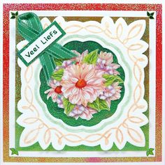 Donna's 3D 'With love' flower card