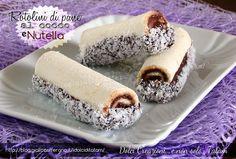 Semplicissimi rotolini di pane cocco e nutella. Dessert in un minuto!